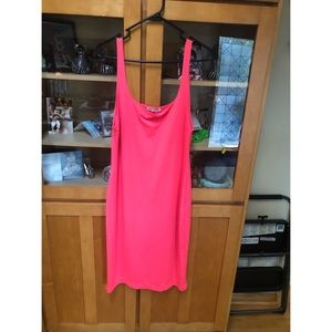 Zara Neon Pink Midi Tank dress XL